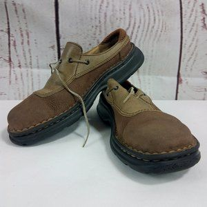 Born B4451 Two Tone Brown Leather Mule Shoes